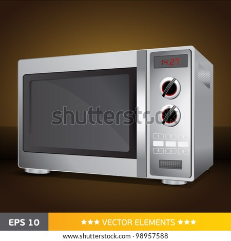 microwave - stock vector