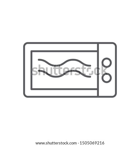 Microwave icon isolated on white background. Microwave symbol modern, simple, vector, icon for website design, mobile app, ui. Vector Illustration