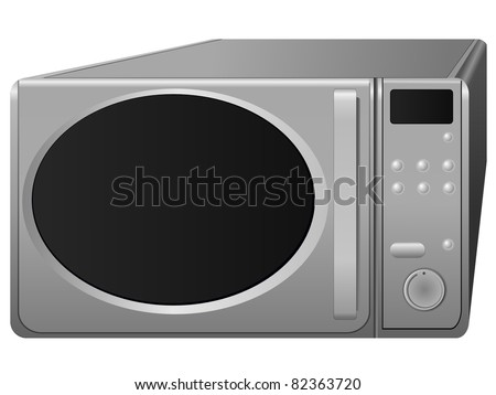 microwave. vector