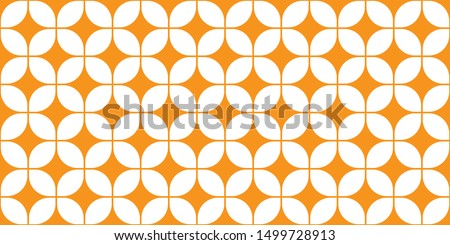 Mid-Century Modern Wallpaper Pattern, Seamless 60s Background, 1960s Repeating Backdrop, Vector Tangerine Wall Paper, Groovy Geometric Pattern, Trippy Wall Art, Mod Decor, Decorative Orange Shapes Stock photo ©