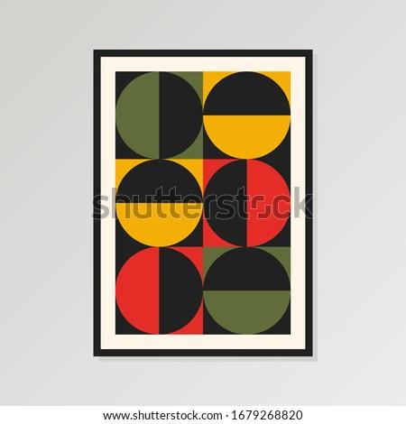 mid century print  modern