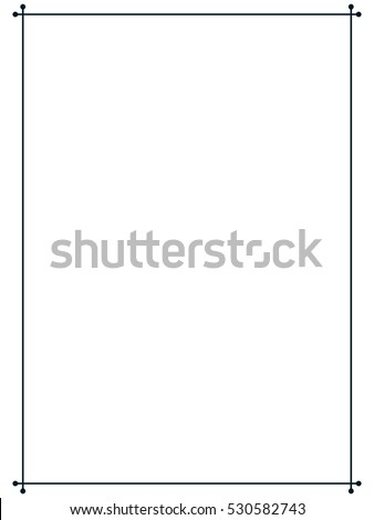 Mid century 50s frame border line page vector simple