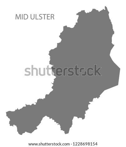Mid Ulster map grey