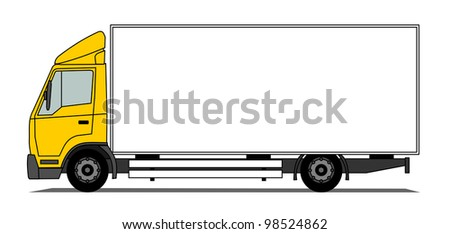 Middle box truck vector
