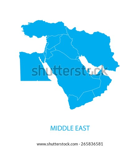 Middle East Map Stockfoto ©