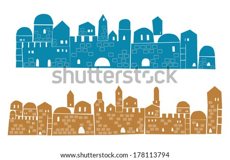 middle east town   illustration