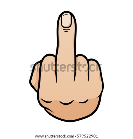 Middle Finger Up Hand Gesture Flipping Off