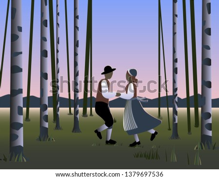 midsummer night dance in sweden
