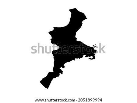 Mie-Mie-ken-Japan map, fully editable detailed vector map of Mie-Mie-ken-Japan . The file is suitable for editing and printing of all sizes. Zdjęcia stock ©