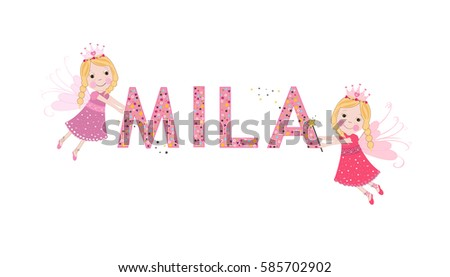 mila female name with cute
