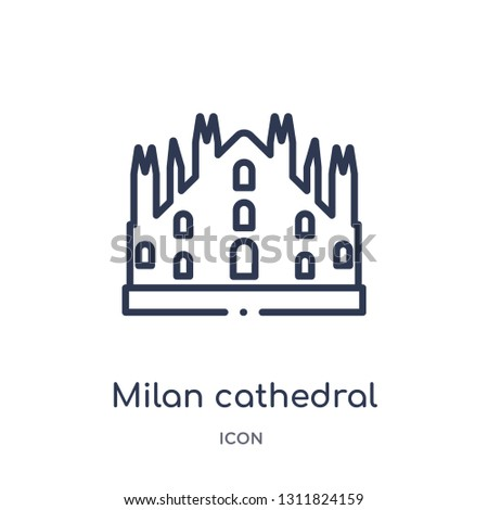 milan cathedral icon from