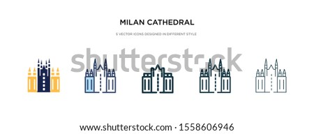 milan cathedral icon in
