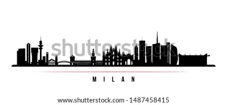 milan city skyline horizontal