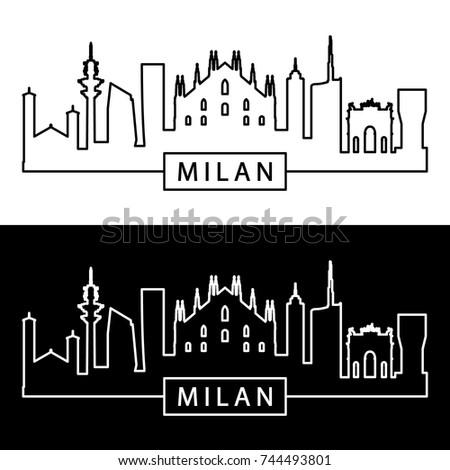 milan skyline linear style