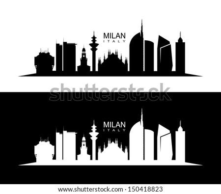 milan skyline   vector