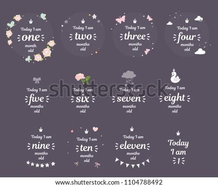 milestone baby month shower new ...