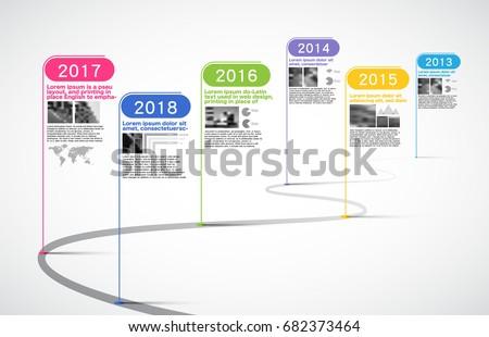 Milestone Company, Timeline, Roadmap,Infographic Vector.