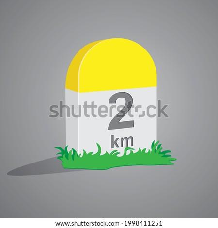 milestone vector illustration