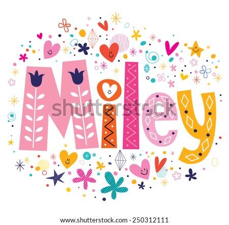 miley female name decorative