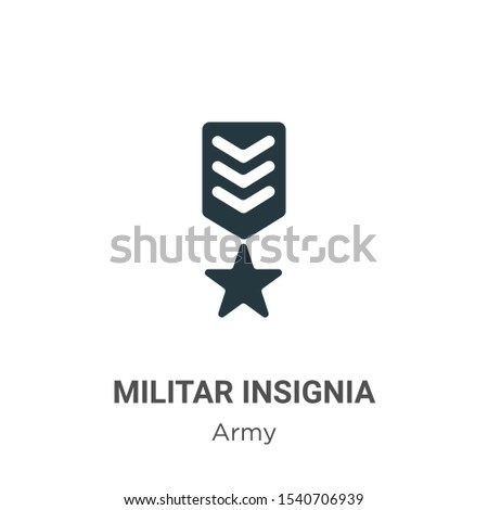 Militar insignia vector icon on white background. Flat vector militar insignia icon symbol sign from modern army collection for mobile concept and web apps design.