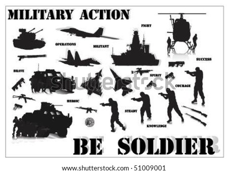 Military Action.Be Soldier.