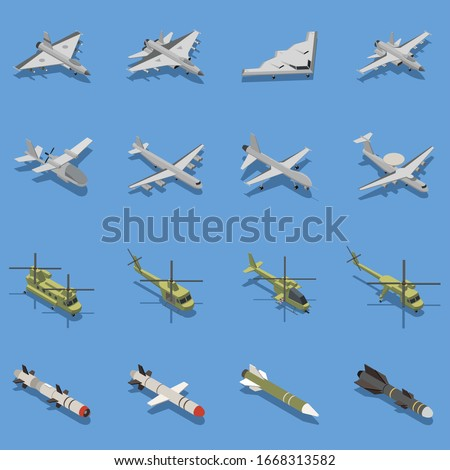 military air forces isometric
