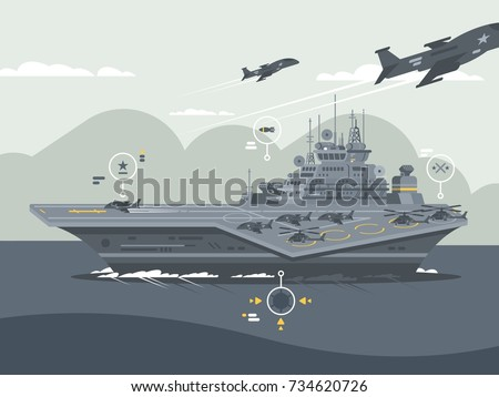 military aircraft carrier huge
