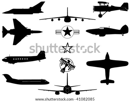 Military Aircraft's - stock vector