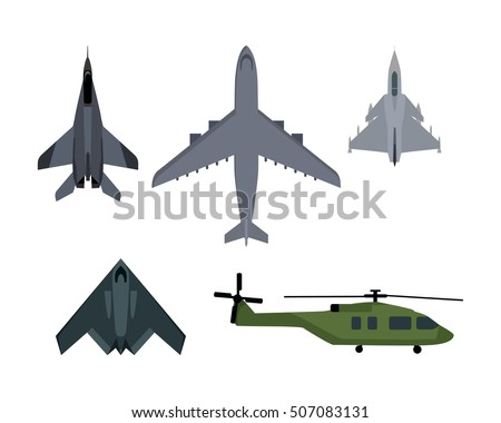 military aircraft set fighter