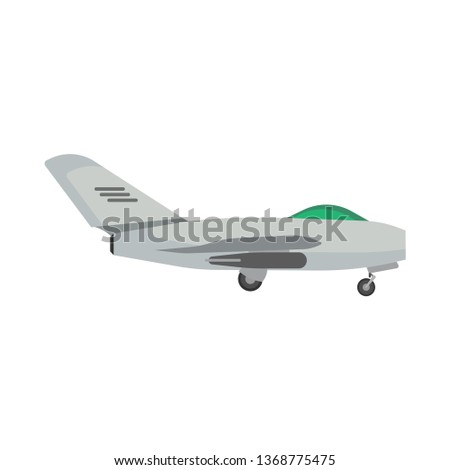 military aircraft side view