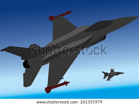 military airplane fighter