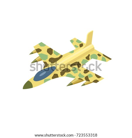 military airplane with rockets