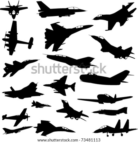 military airplanes collection