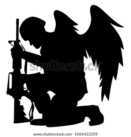military angel soldier with