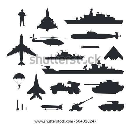 military armament and troops