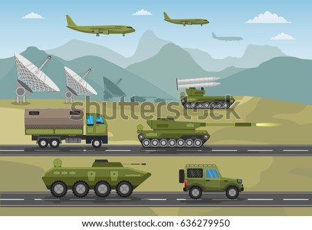 military army big set of base