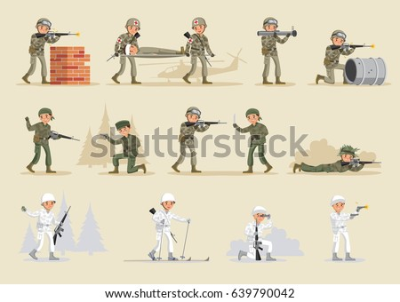 military army collection with