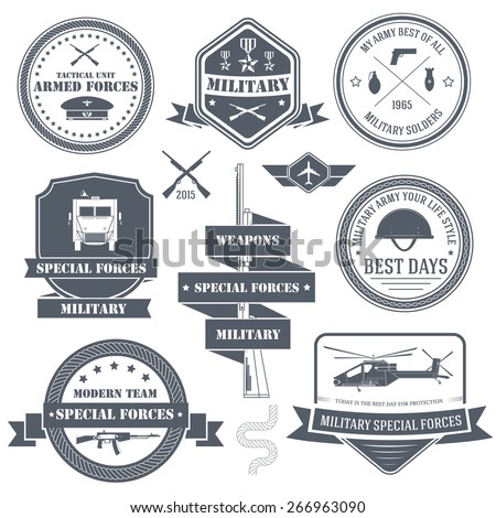 military army set label