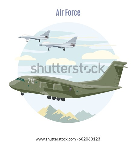 military aviation concept with