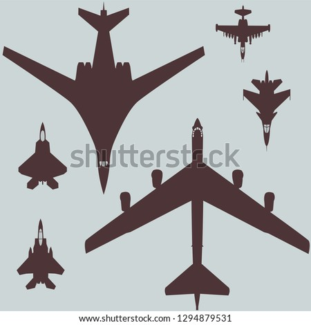 military aviation set of