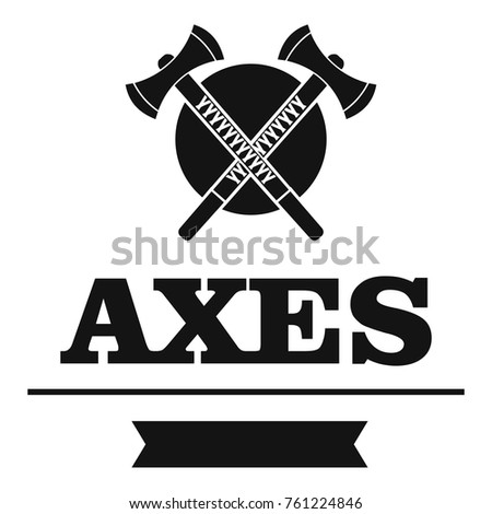 Military axe logo. Simple illustration of military axe vector logo for web