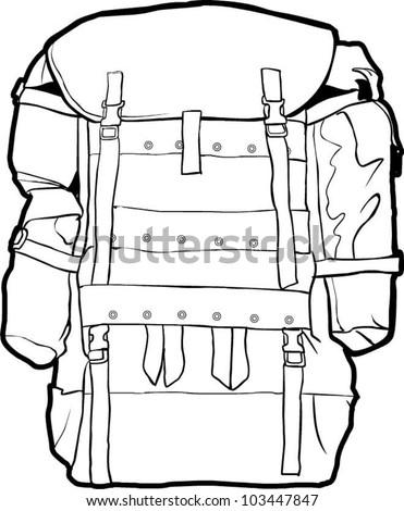 Open Backpack Drawing Iwate Kokyo