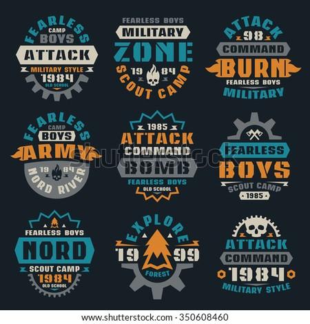 military badges graphic design