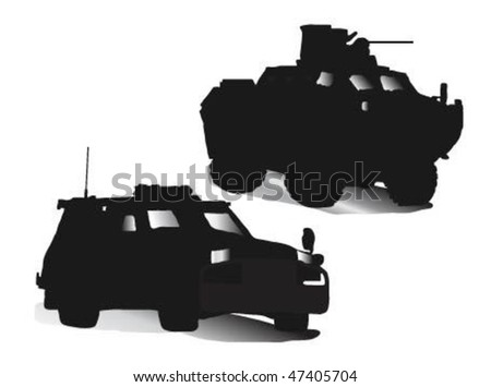 military blinded vehicle
