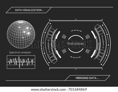 military blue radar screen