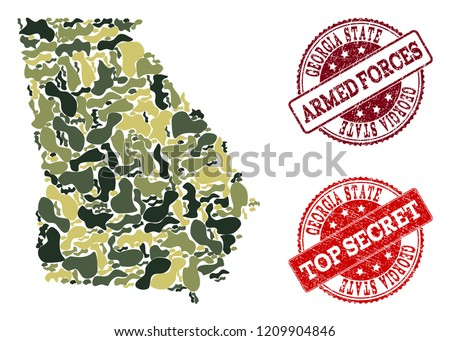 military camouflage combination