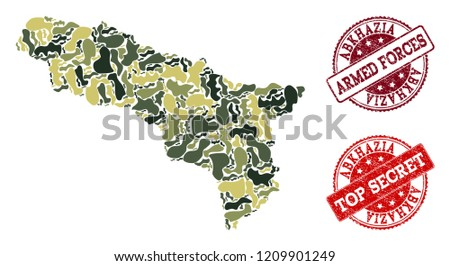 military camouflage composition