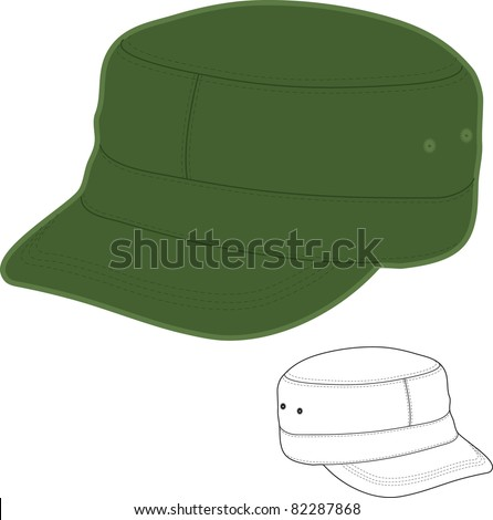 how to draw a military hat