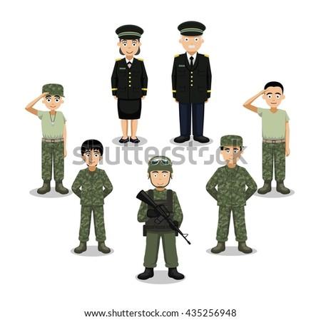 military characters cartoon