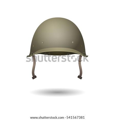 military classical green helmet